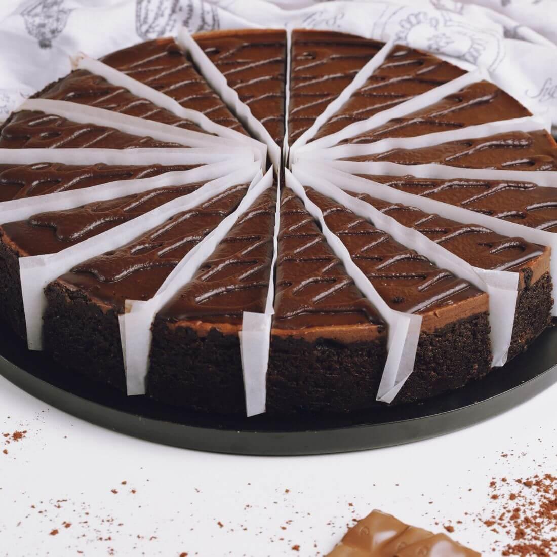 Чизкейк шоколадный (16 порций)
