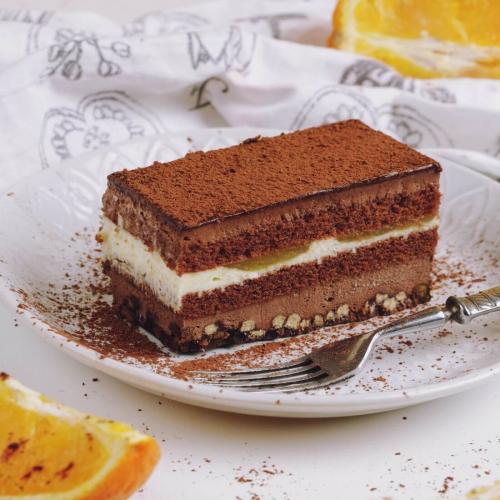 Пирожные шоколадно-апельсиновые хрустящие